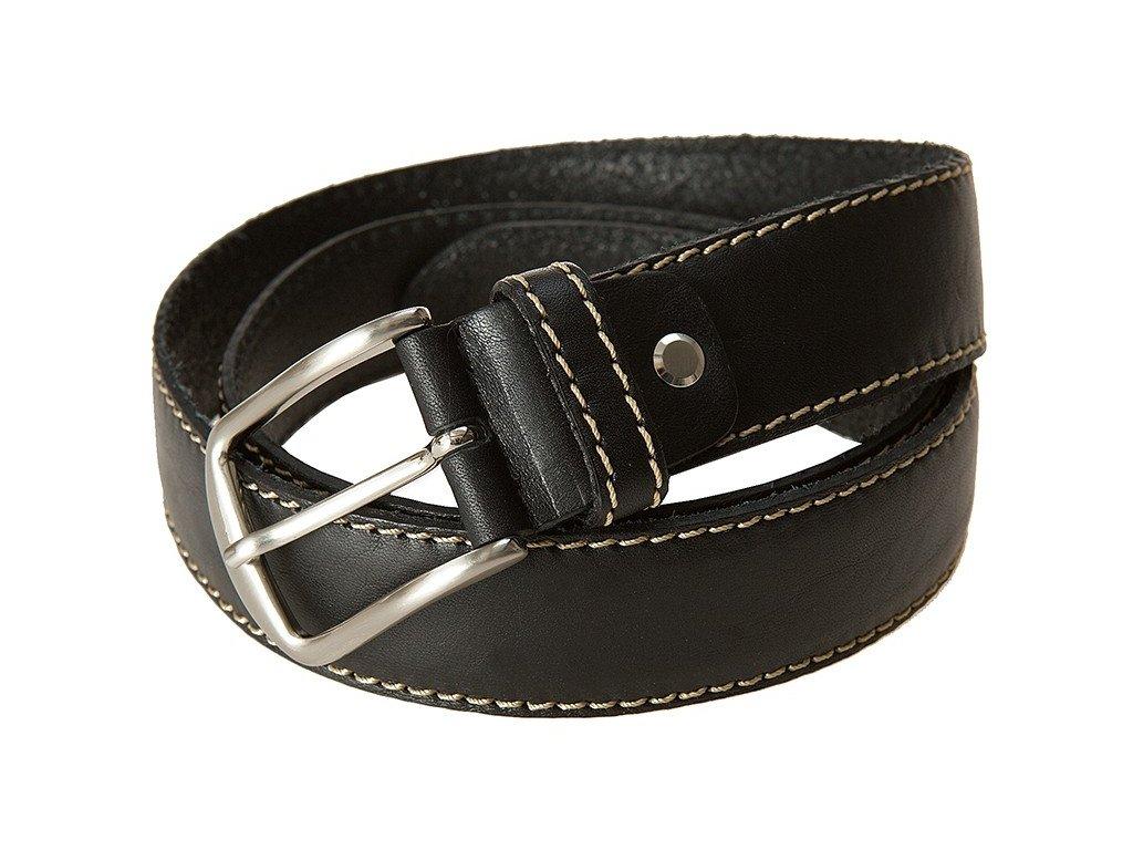 černý kožený pásek 351302, BERND GÖTZ