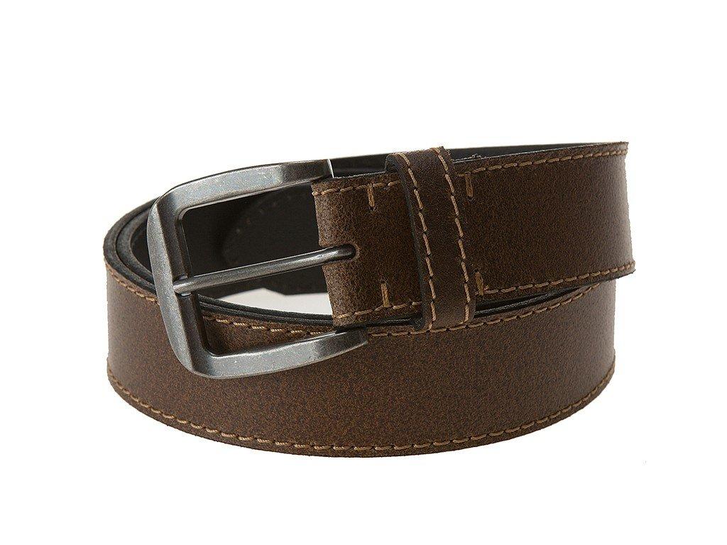 Pánský hnědý kožený pásek 0464, LLOYD