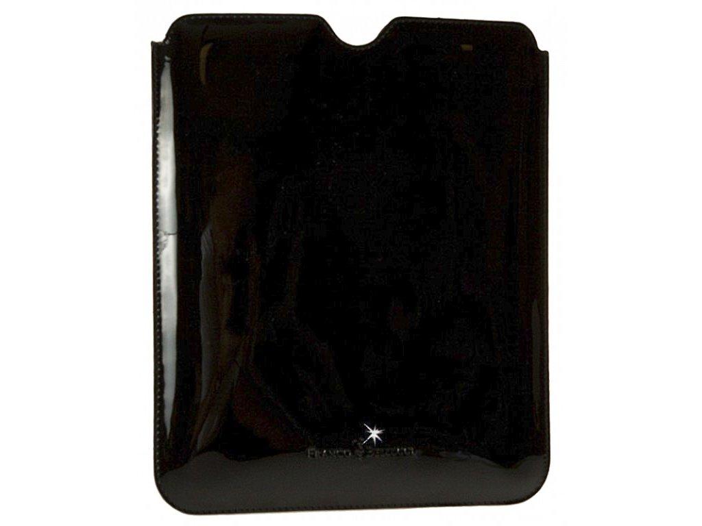 Luxusní černé kožené pouzdro na tablet, FRANCO BELLUCCI