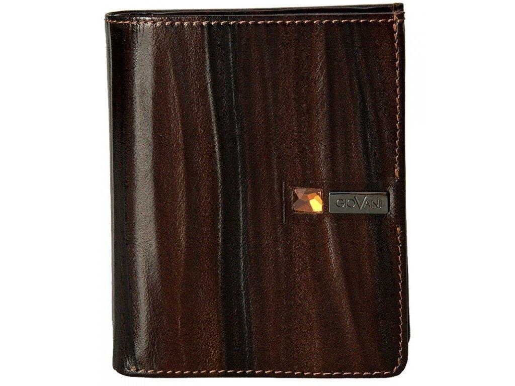 pánská hnědá kožená peněženka AW 100, GIOVANI