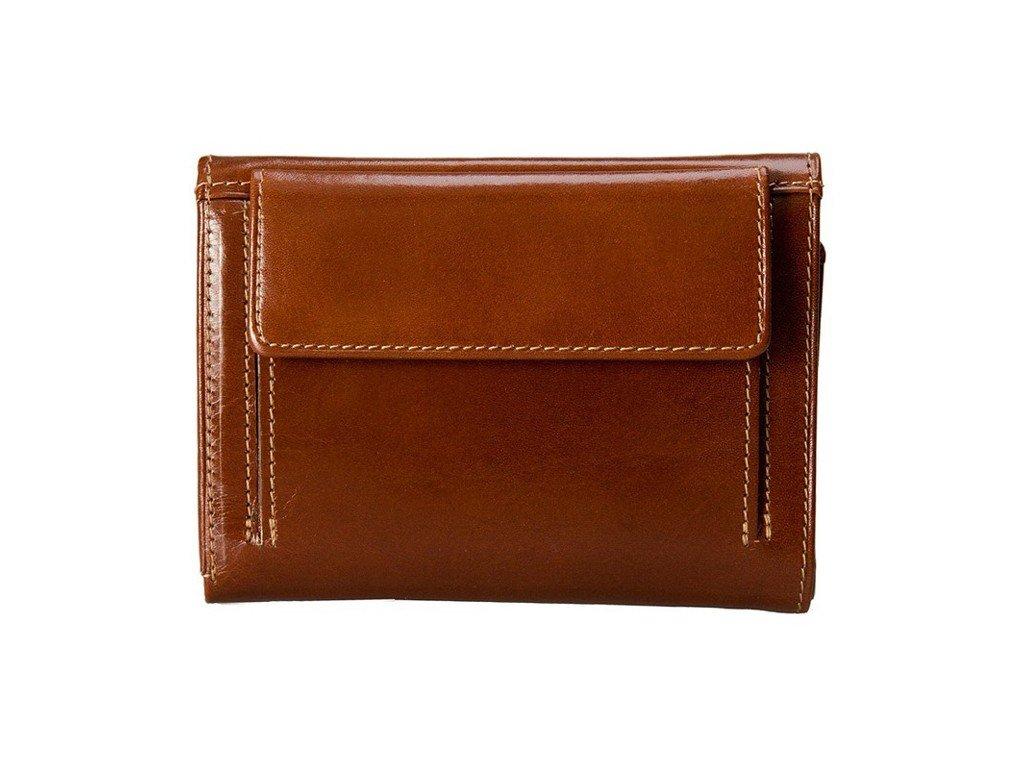 Dámská hnědá kožená peněženka Stefania