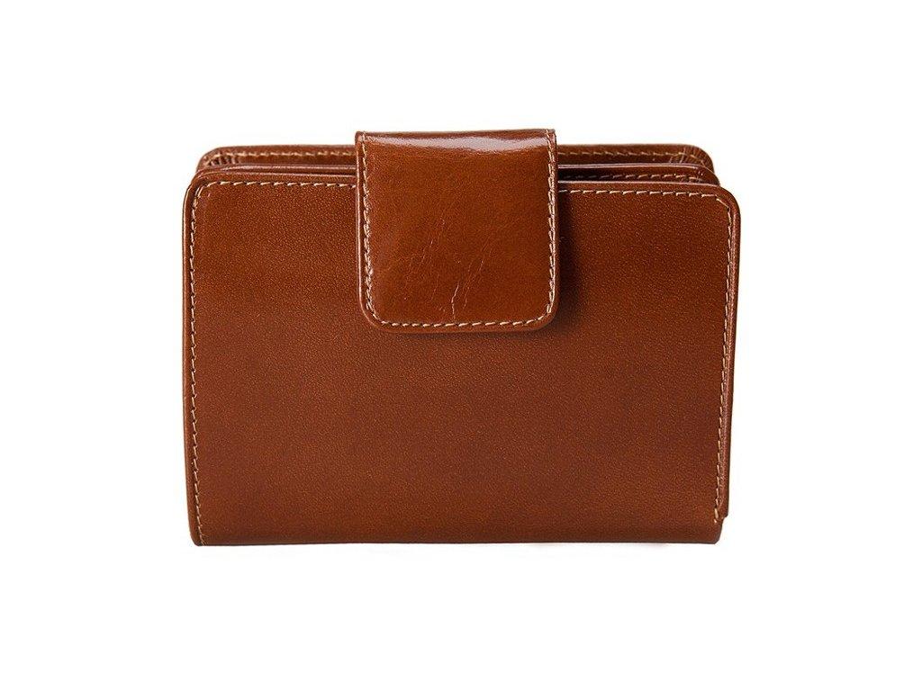 dámská hnědá kožená peněženka 179 D, Stefania