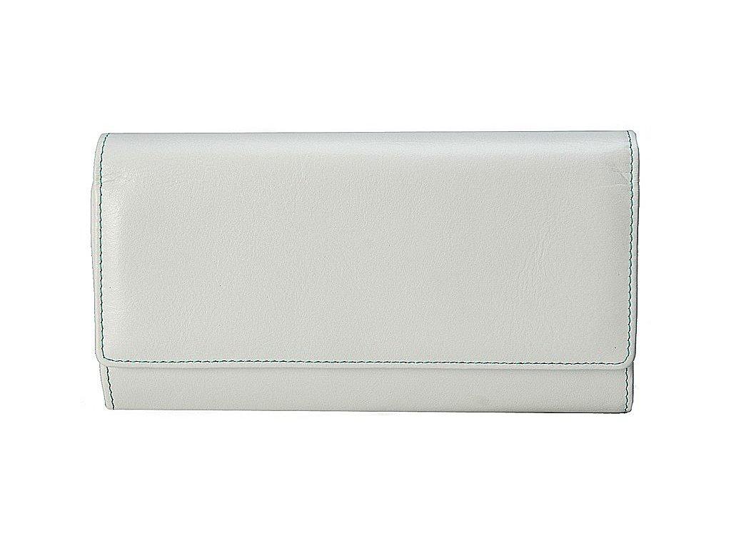 velká dámská bílá kožená peněženka - dokladovka 141 D, Stefania
