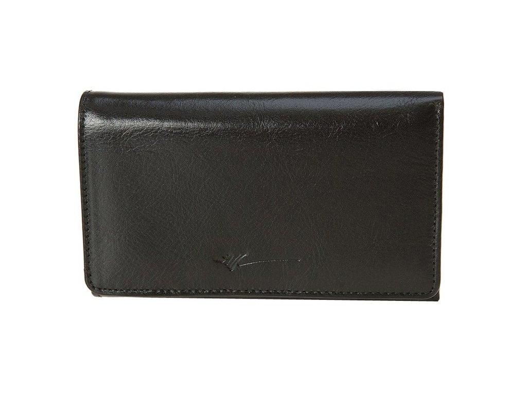 velká dámská černá kožená peněženka D-281, Dragon