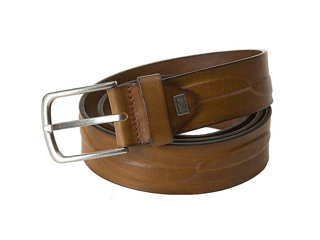 pánský hnědý - koňak - kožený pásek 3279, LINDENMANN