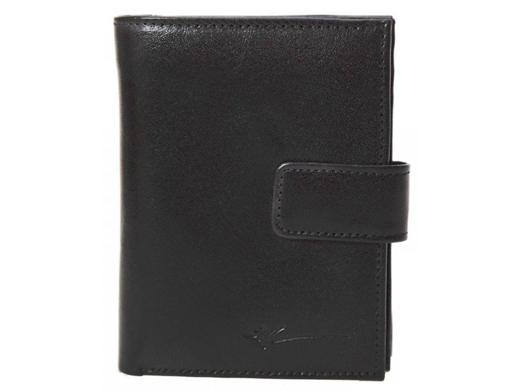 dámská černá kožená peněženka D-601, Dragon