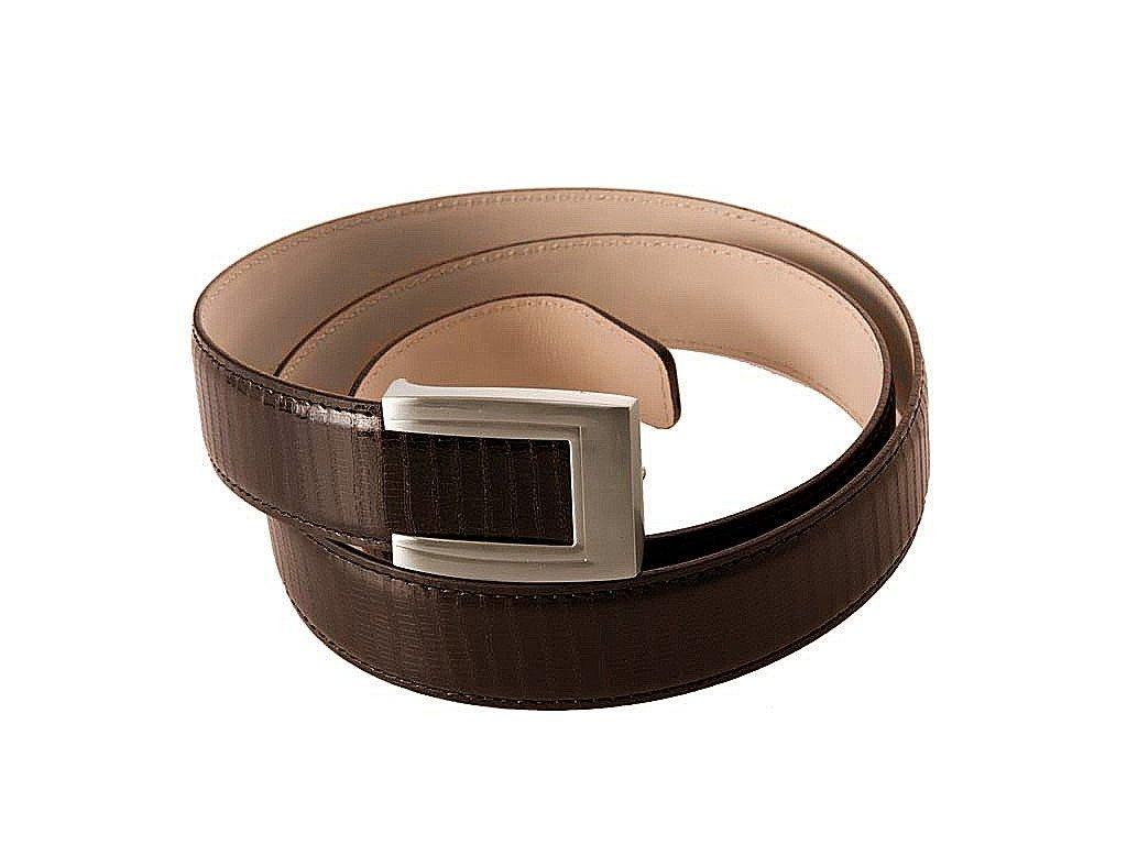 pánský hnědý kožený pásek 55-0350-1343, GALKO