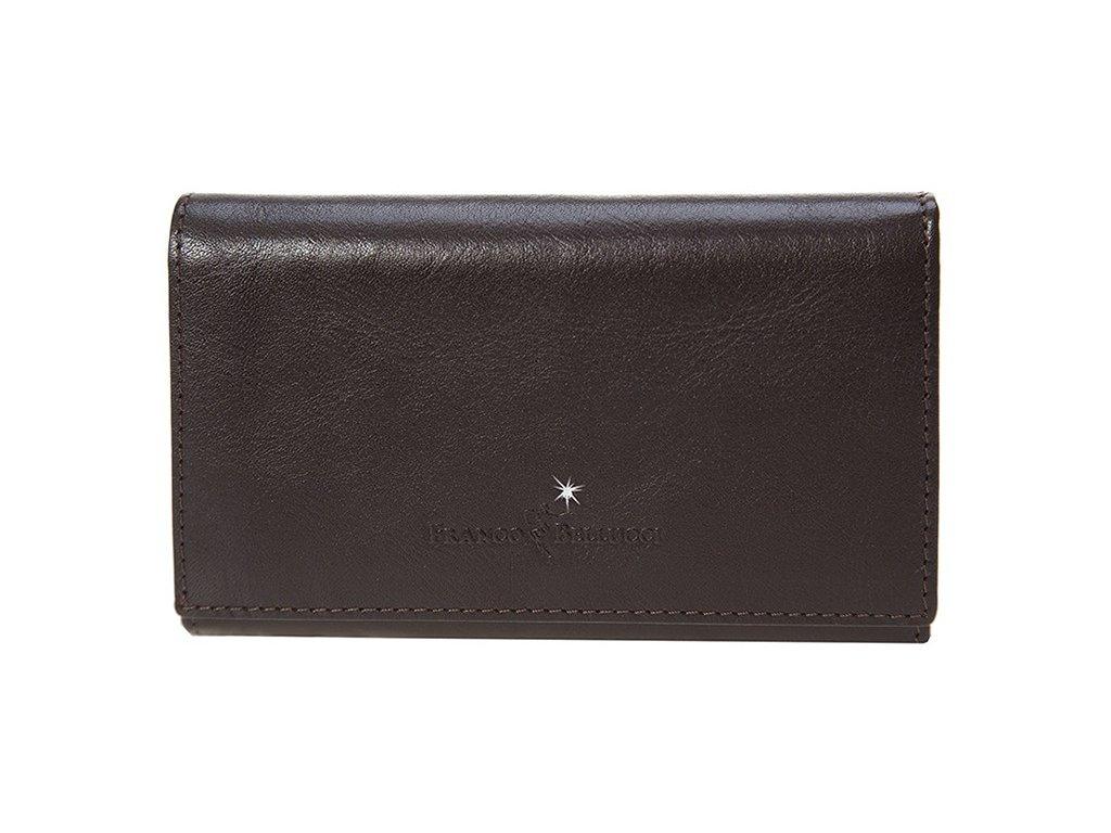 dámská tmavě hnědá kožená peněženka D-1, Franco Bellucci,