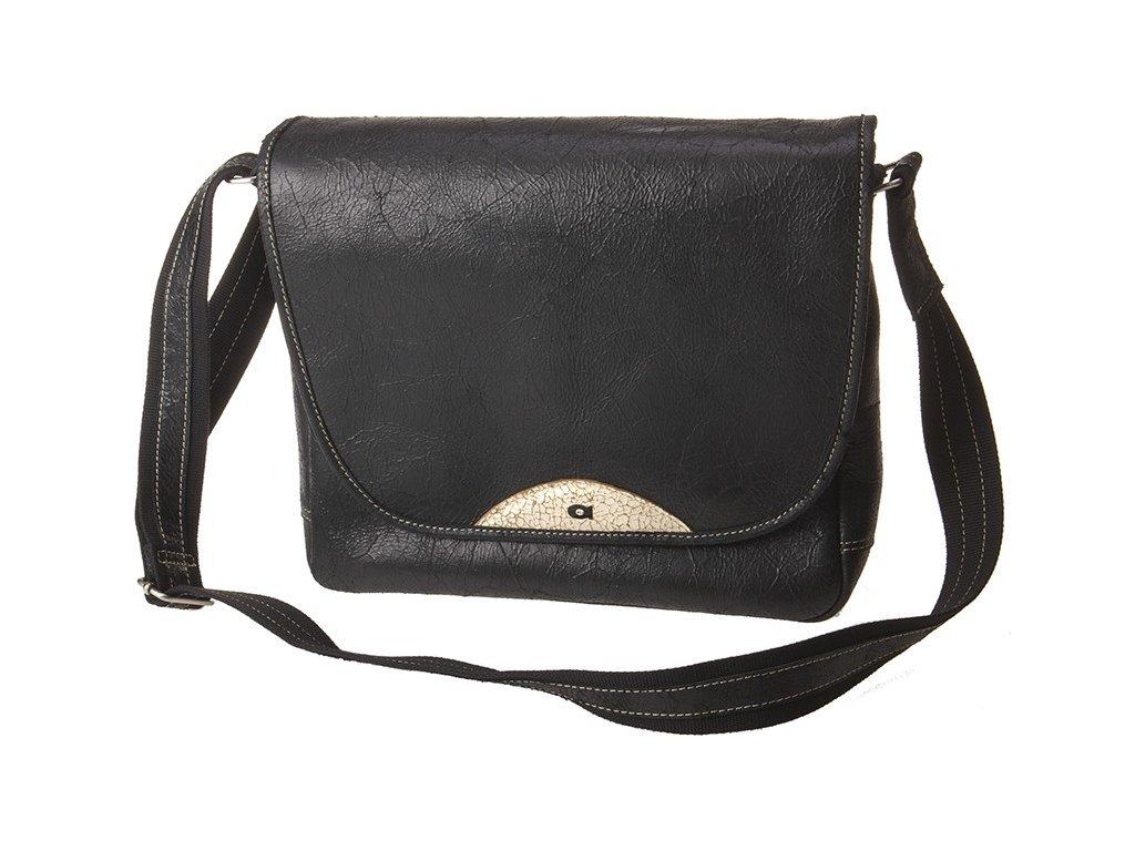 Černá kožená taška JAZZY84, DAAG