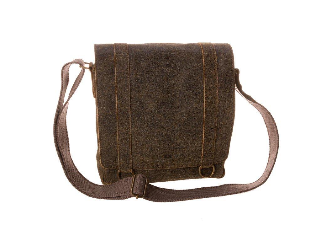 hnědá kožená taška JAZZY Risk 27, DAAG