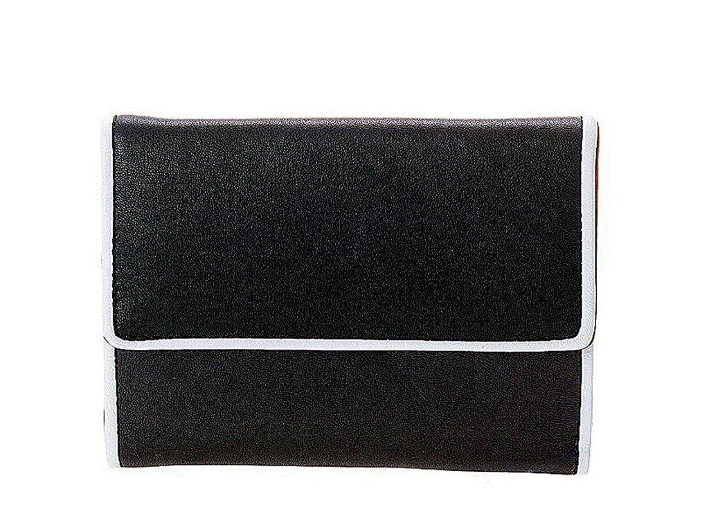 dámská černá kožená peněženka 411750, ART
