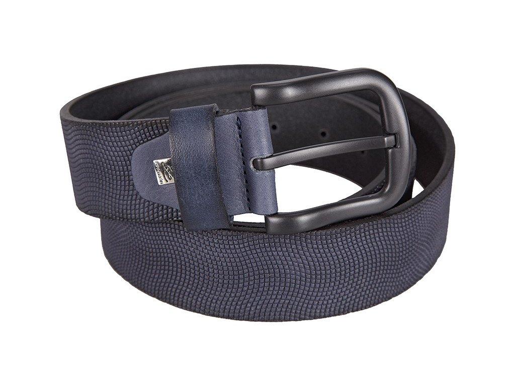 Pánský modrý kožený pásek 200, LINDENMANN