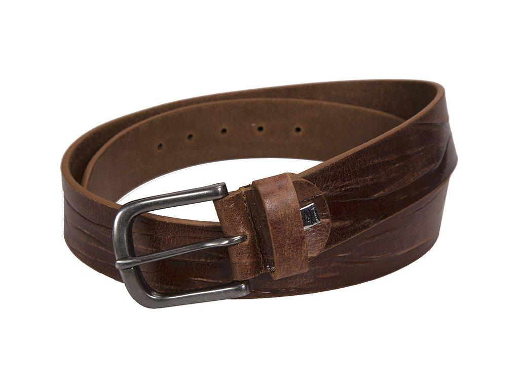 pánský hnědý - koňak kožený pásek 340 , LINDENMANN