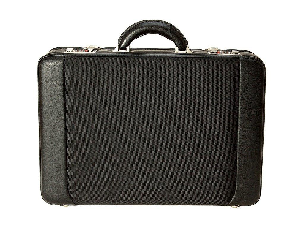 Černý ataše kufr 2622-01, d&n lederwaren