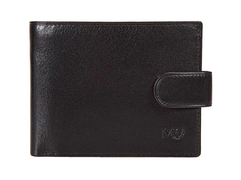 pánská černá kožená peněženka B120219, MARTA PONTI