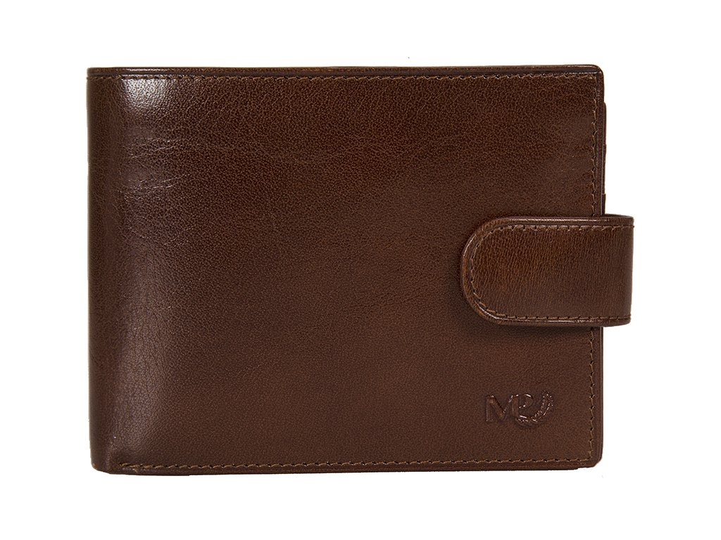 Luxusní pánská kožená peněženka MARTA PONTI Johan - světle hnědá
