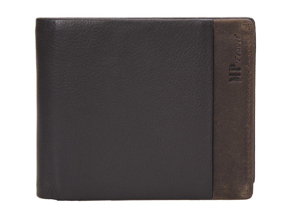 Luxusní pánská kožená peněženka MARTA PONTI Maine - černá/hnědá