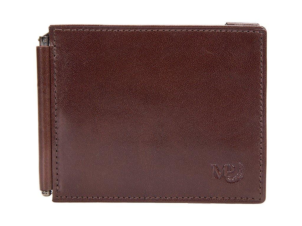 Luxusní pánská kožená peněženka - dolarka MARTA PONTI Marten - hnědá