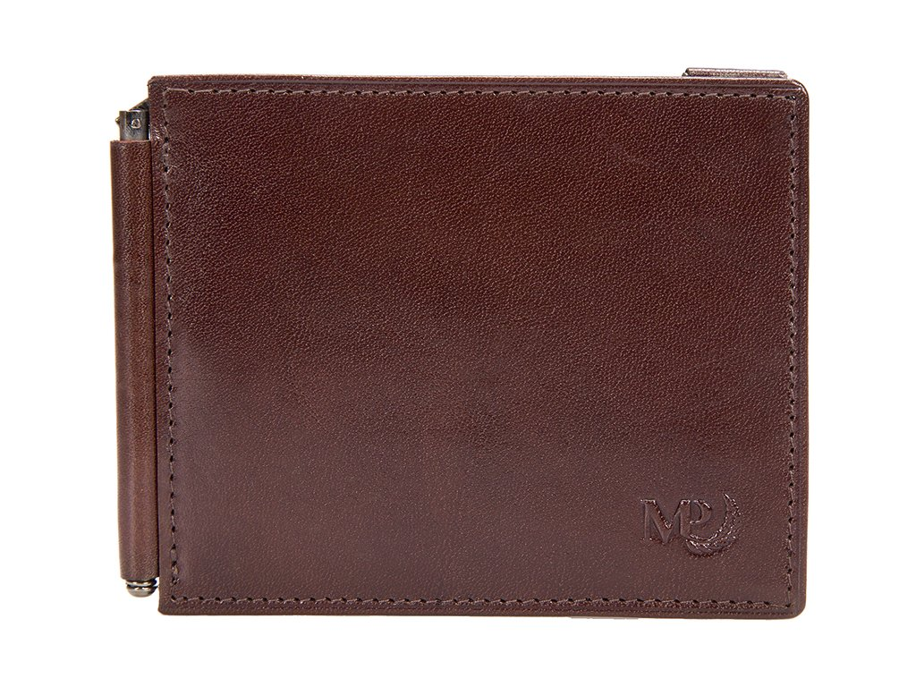 Pánská hnědá kožená peněženka - dolarka B120227, MARTA PONTI