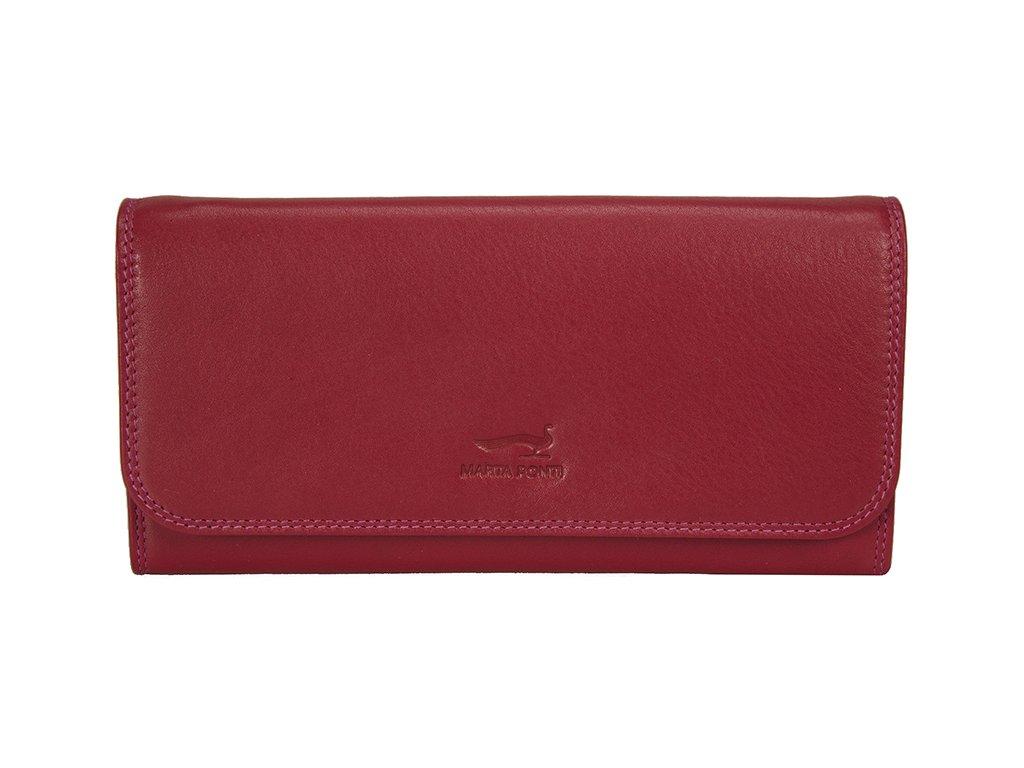 dámská červená kožená peněženka B270034, MARTA PONTI