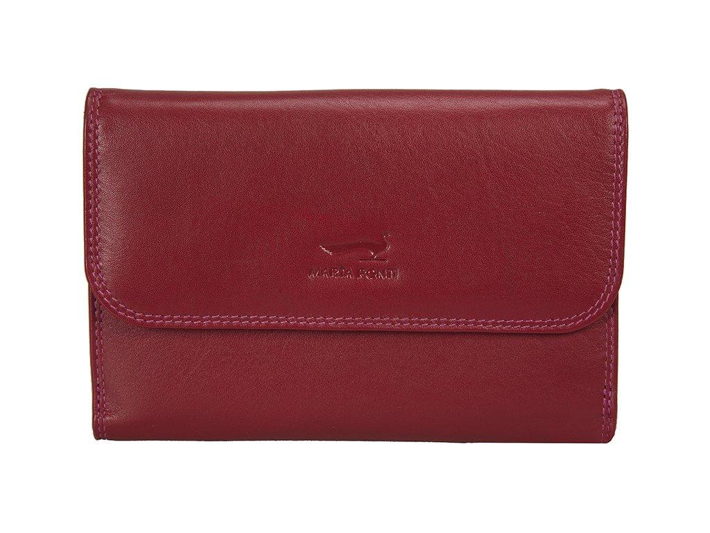 dámská červená kožená peněženka B270033, MARTA PONTI