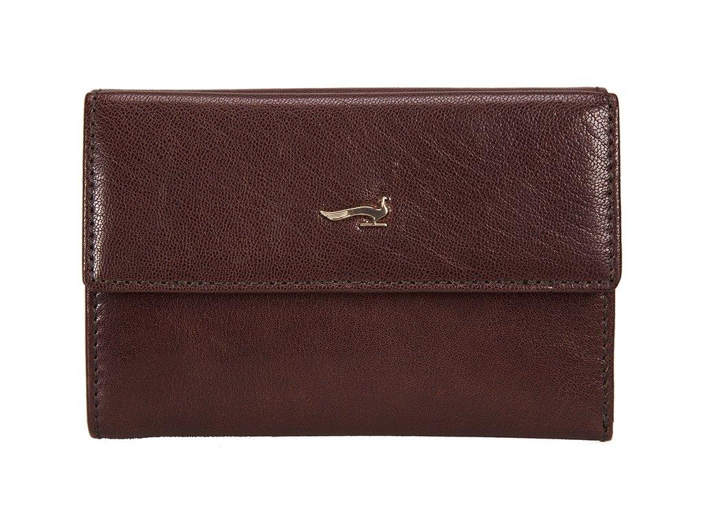 dámská hnědá kožená peněženka B33PO23, MARTA PONTI