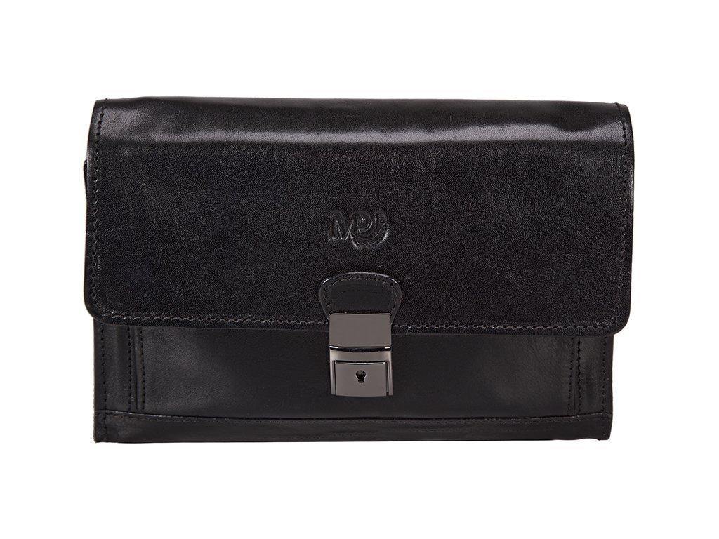 Luxusní pánská kožená etue MARTA PONTI Puro - černá