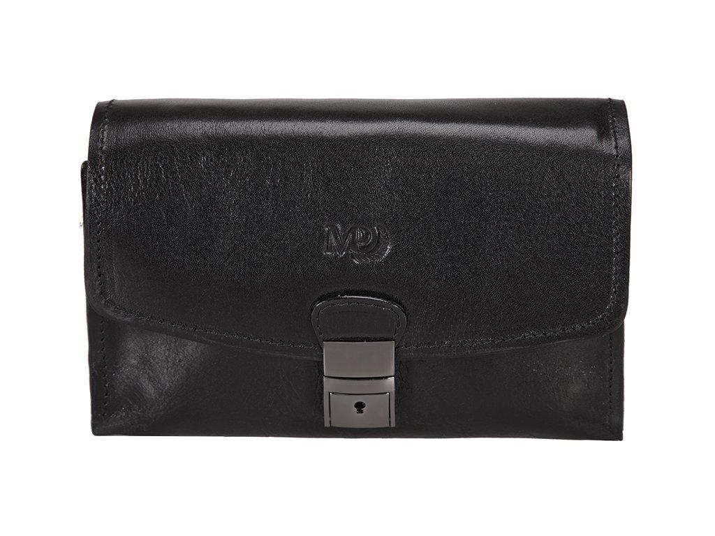Luxusní pánská kožená etue MARTA PONTI Lago - černá
