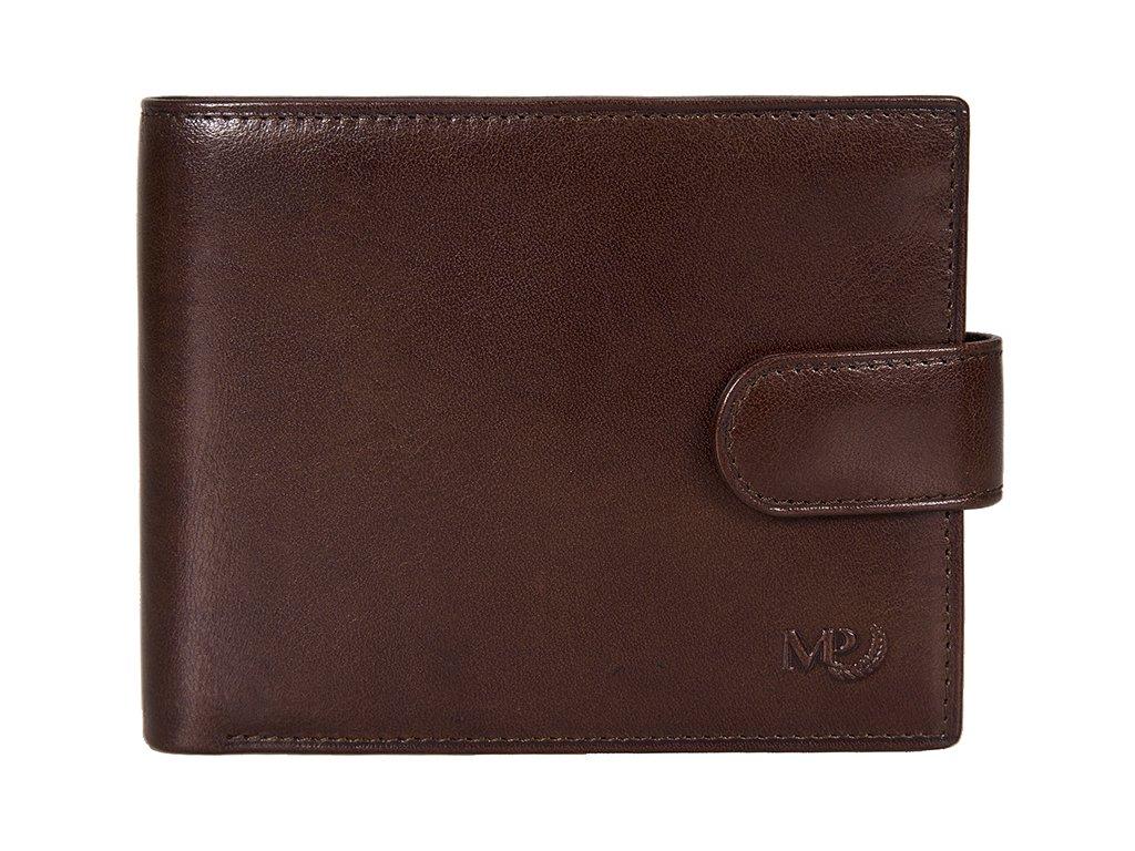 pánská hnědá kožená peněženka B120218, MARTA PONTI