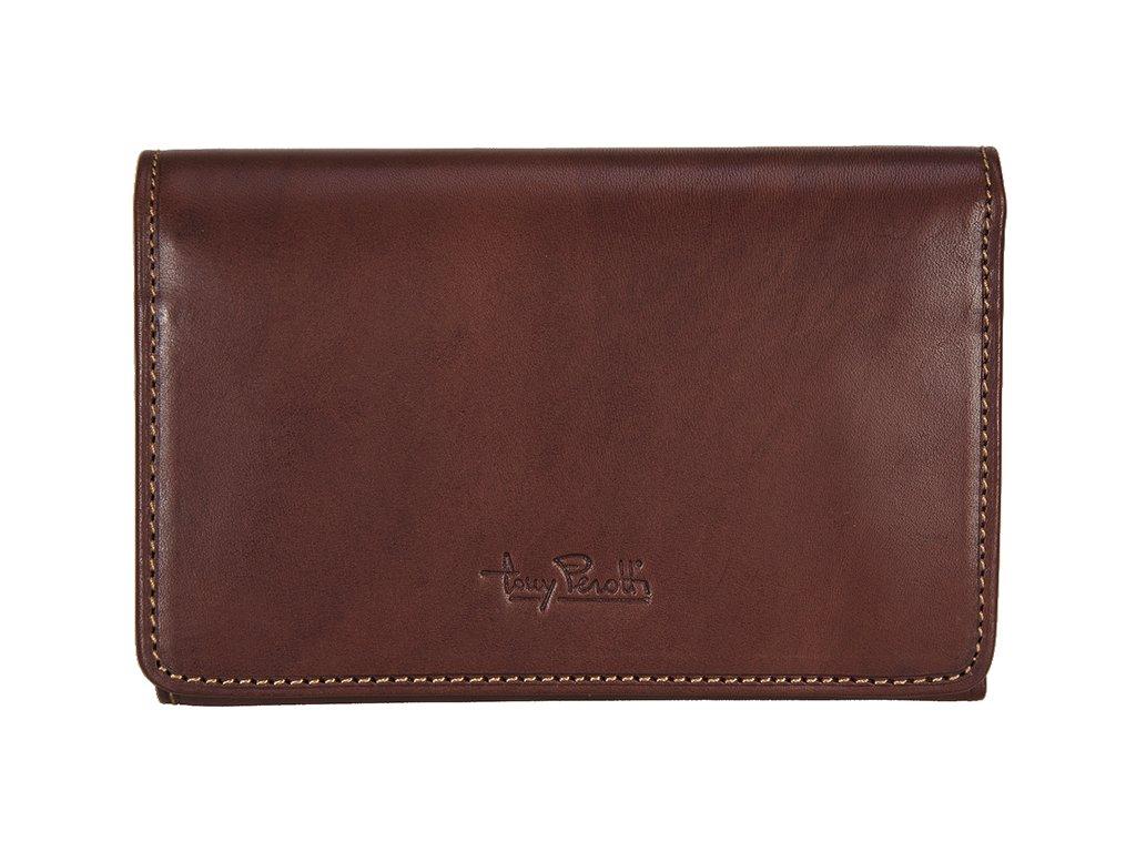 hnědá kožená peněženka 2605, tony perotti