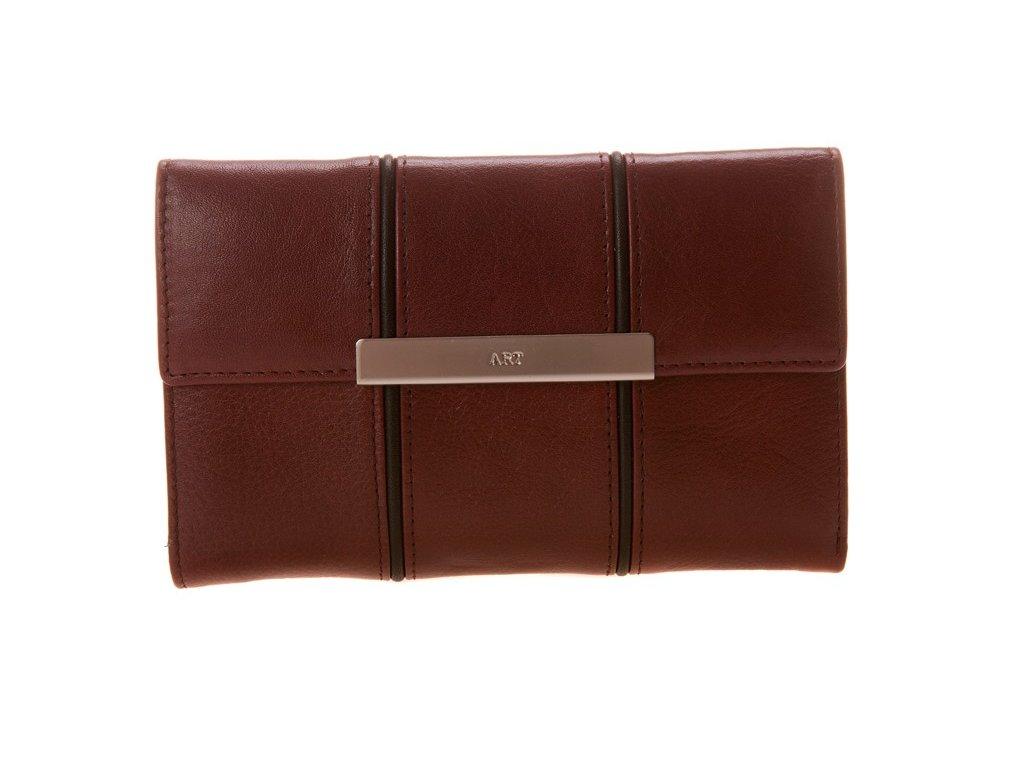 Dámská červená-bordó kožená peněženka přední pohled