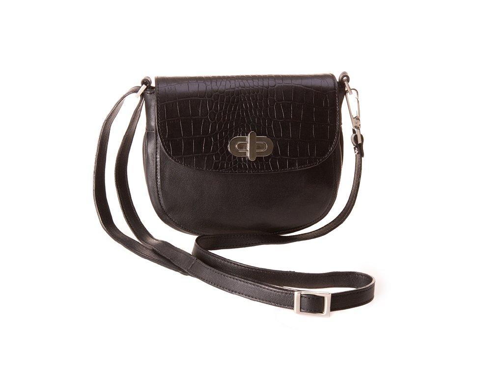 Černá kožená kabelka 43S5/77, Boca
