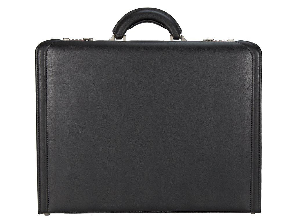 Černý ataše kufr 2635-01, d&n lederwaren