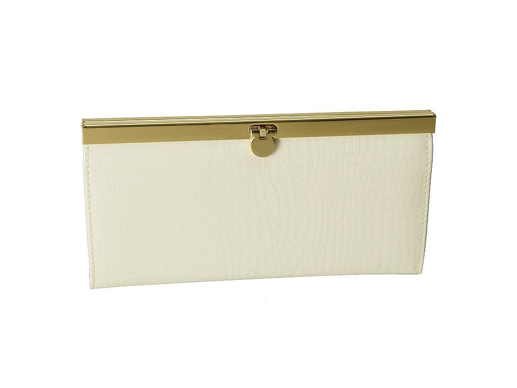 Dámská smetanově bílá kožená peněženka J-11-004-002, Jacky&Celine