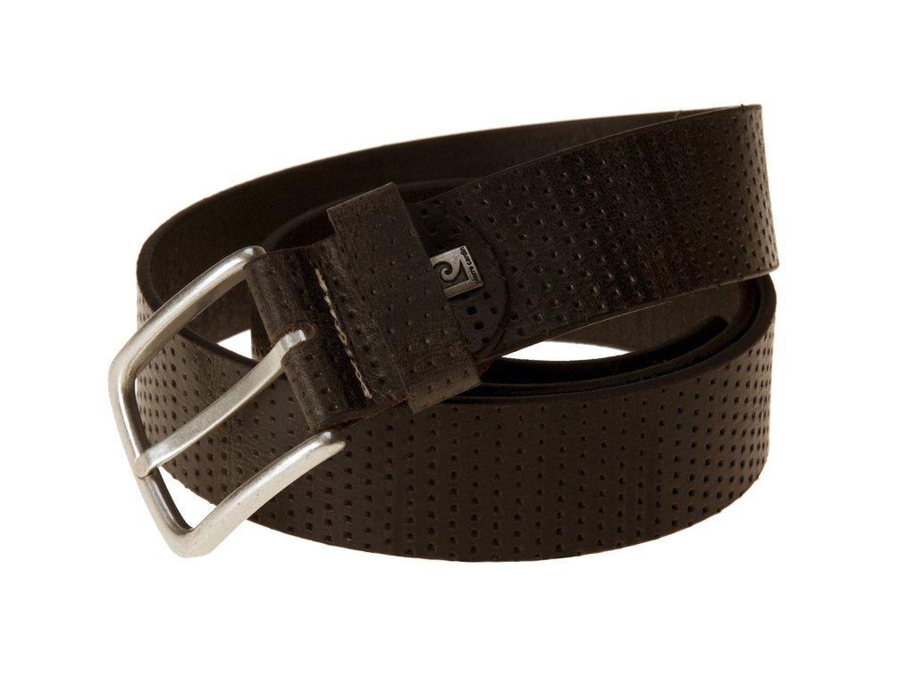 pánský hnědý kožený pásek 70099, PIERRE CARDIN