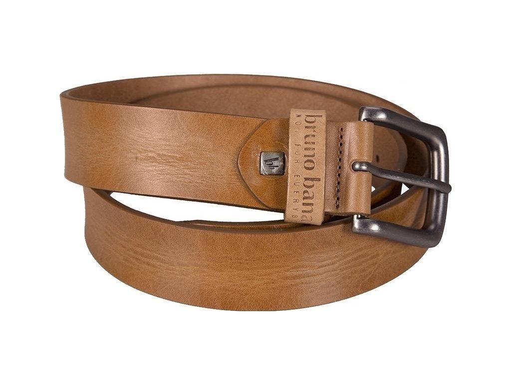 Pánský značkový kožený pásek BRUNO BANANI