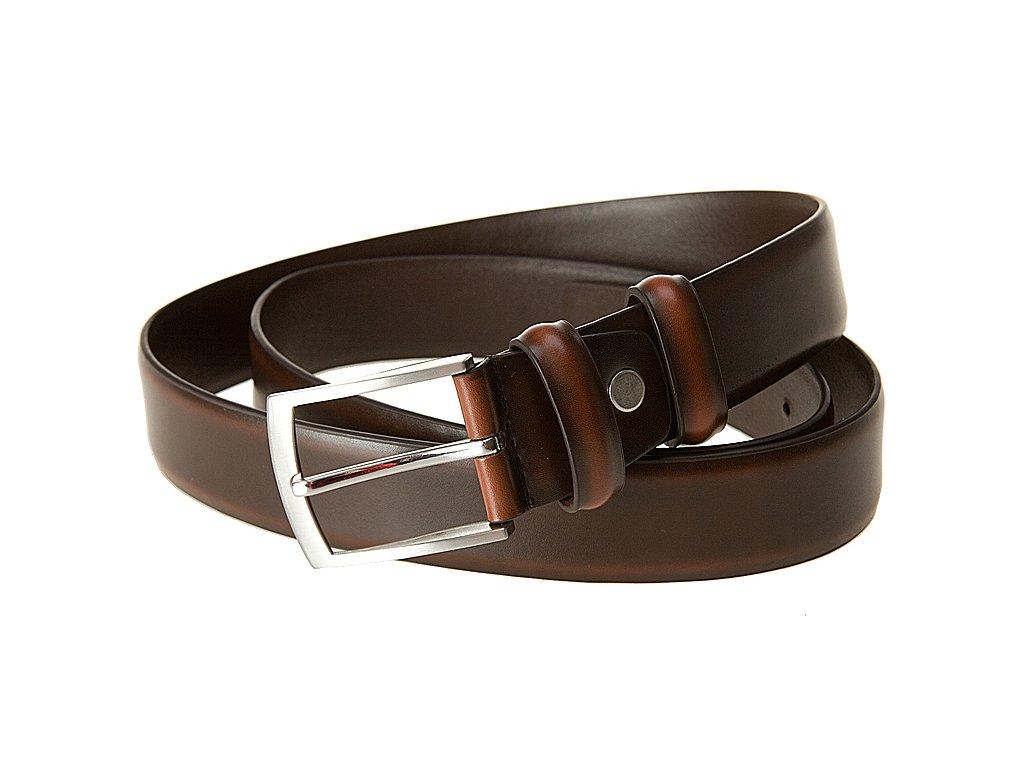 Pánský hnědý kožený pásek PL105, BREMI