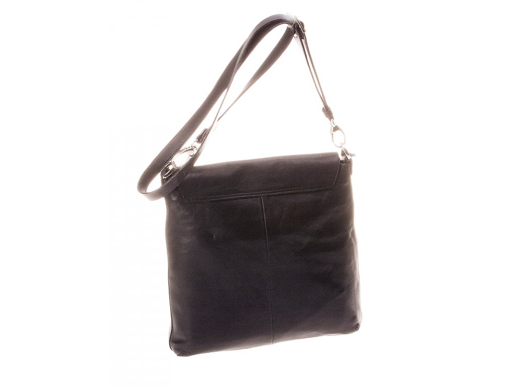 černá kožená kabelka 46S77 crossbody, Boca