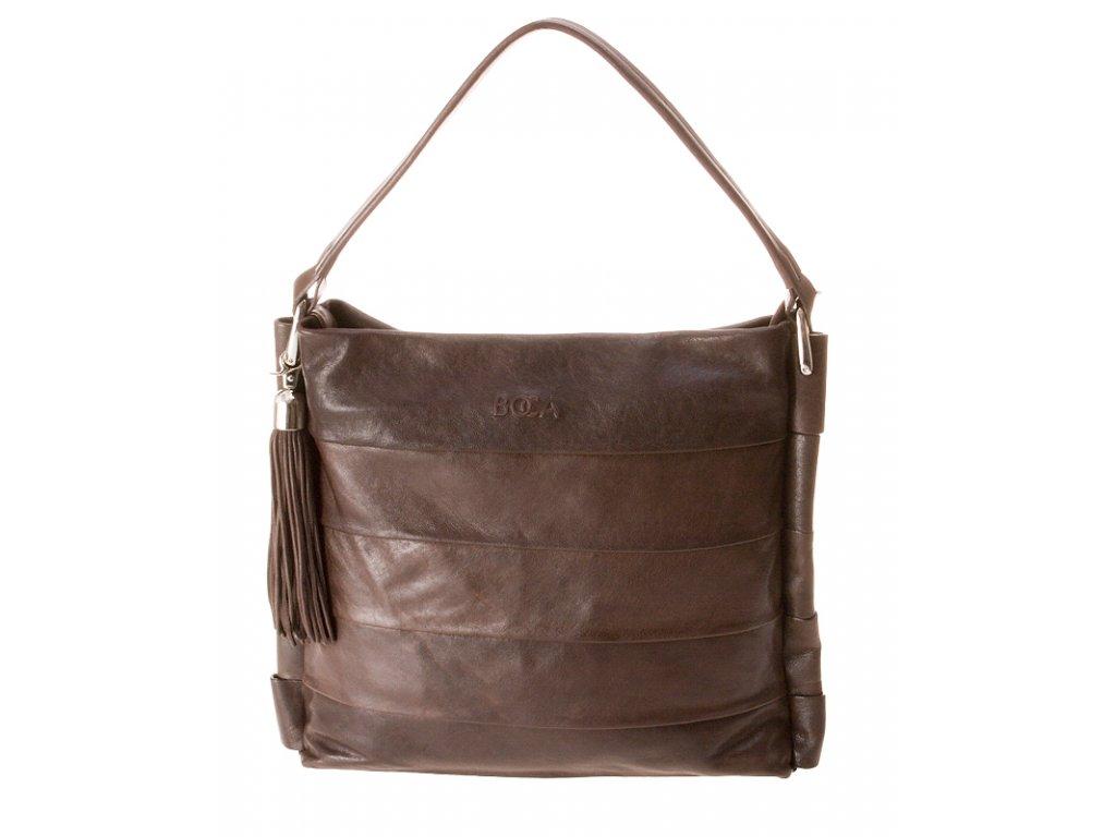 hnědá kožená kabelka 2051S3 crossbody, Boca