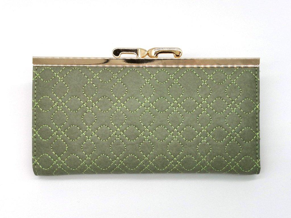 Dámská světle zelená peněženka značky S.FIORENTINO
