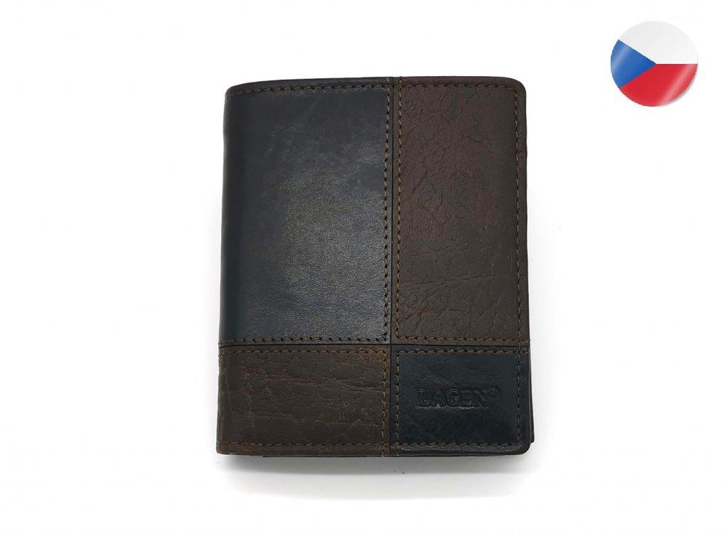 Pánská kožená peněženka LAGEN Apolo - hnědá