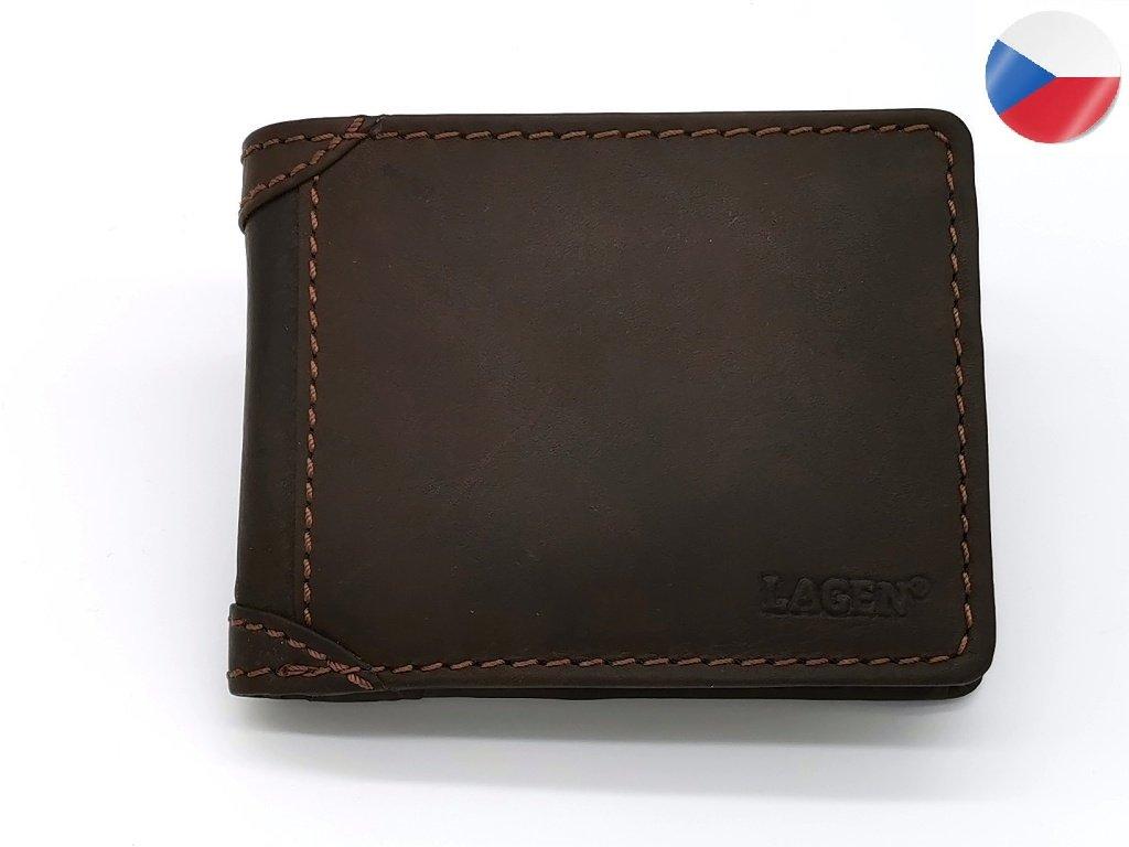 Pánská kožená peněženka LAGEN Matěj - hnědá