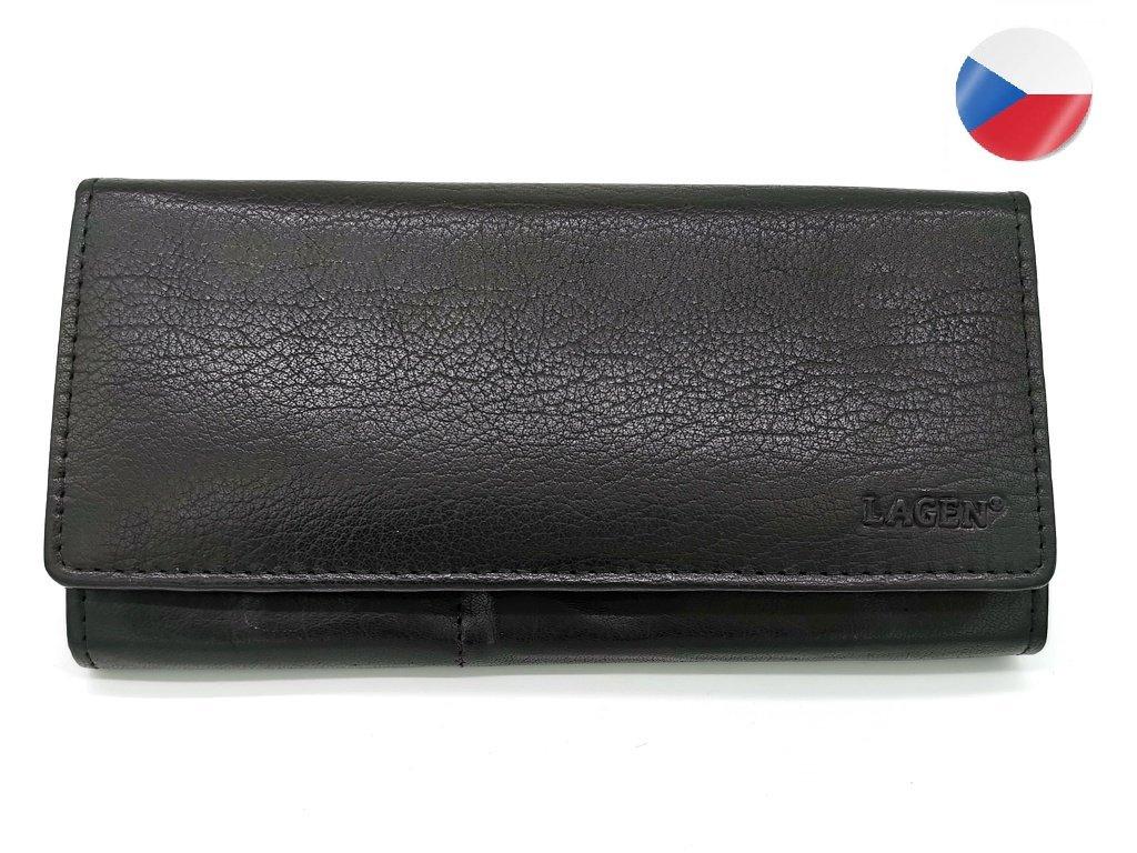 Dámská kožená peněženka LAGEN, Ladana - černá