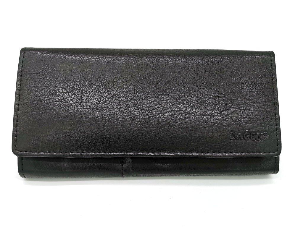 Dámská černá kožená peněženka V-102-BLK, LAGEN