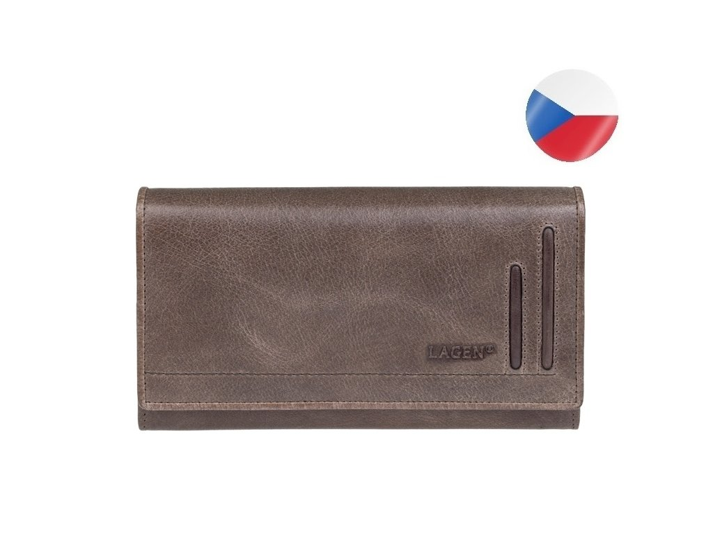 HELA kožená peněženka hnědá luxusní (2)