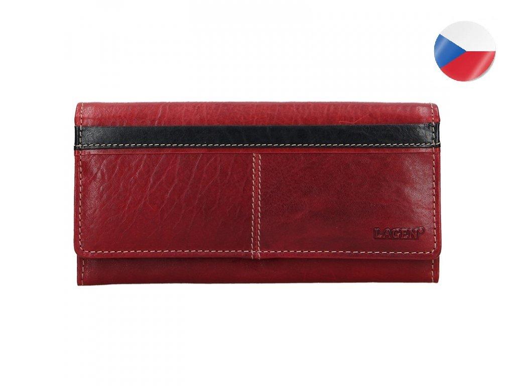 Dámská kožená peněženka LAGEN Katka - červená