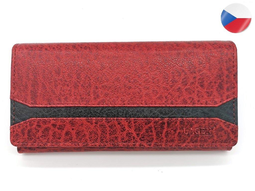 Dámská kožená peněženka LAGEN Marion - červená