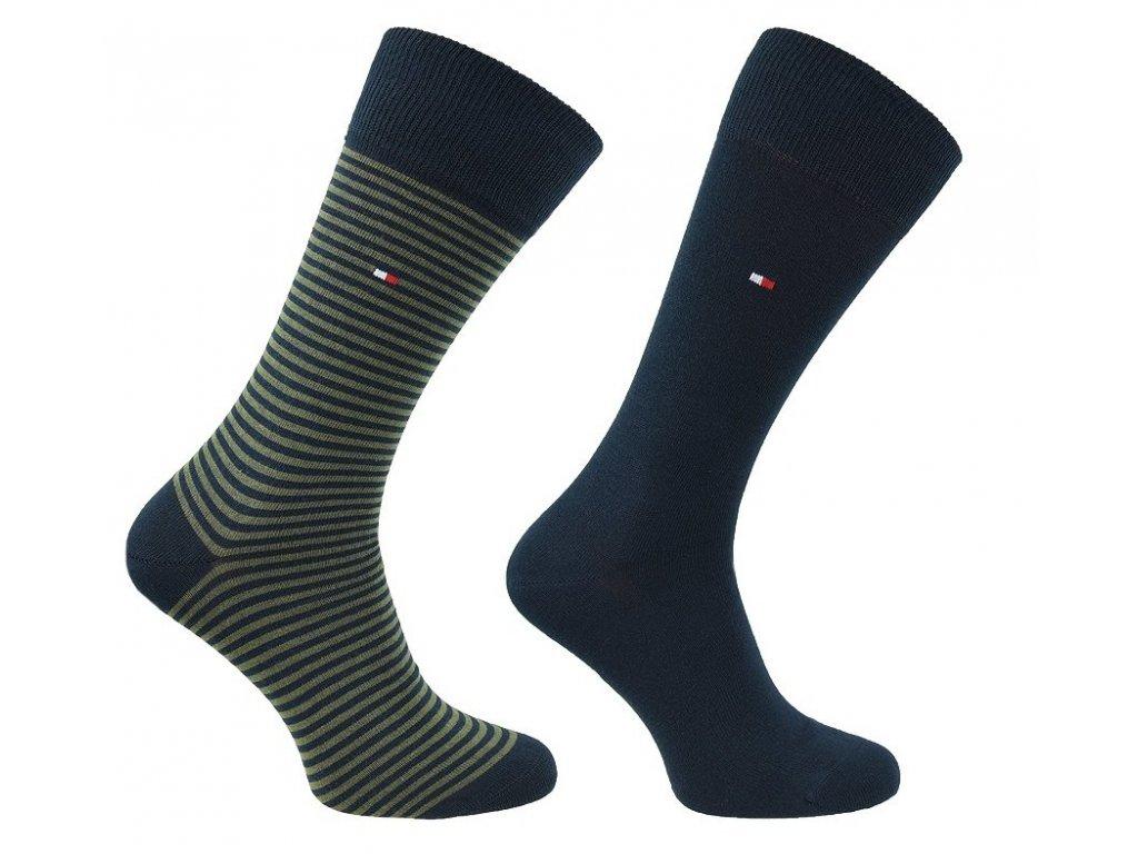 Značkové ponožky 2 páry No. 150, TOMMY HILFIGER