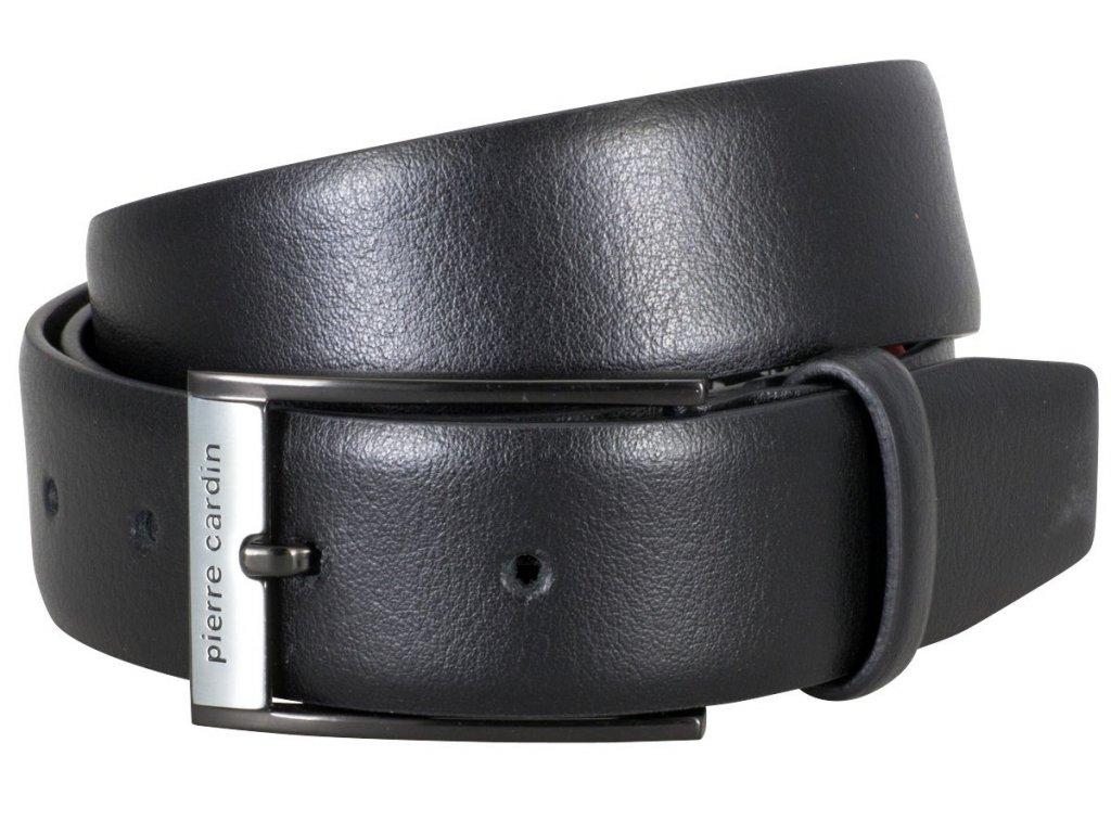 Pánský kožený pásek PIERRE CARDIN Rolland - černý