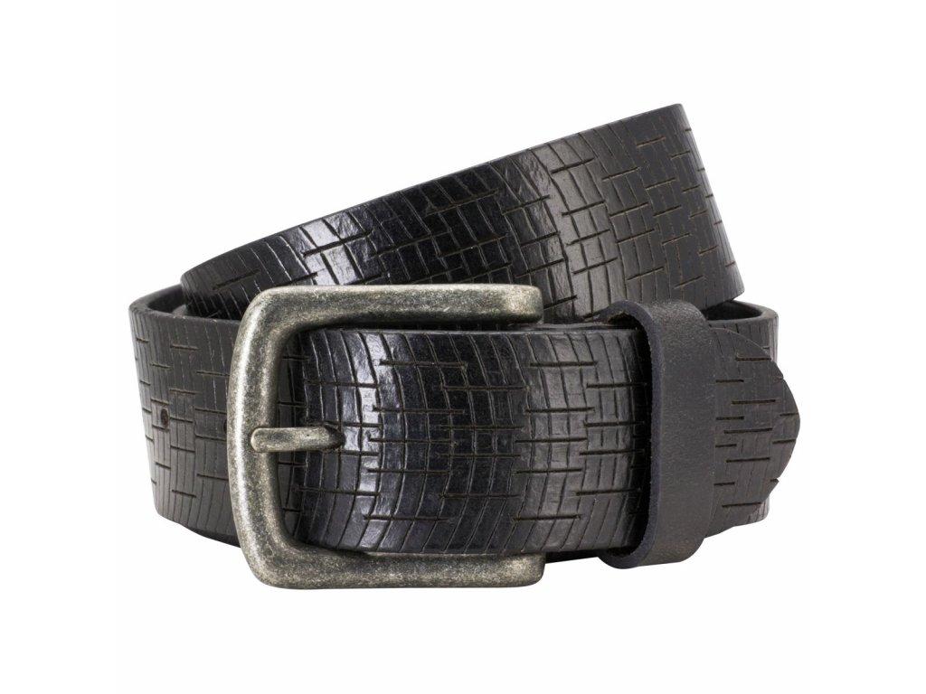 Pánský kožený pásek PIERRE CARDIN Aramis - černý